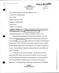 Memorandum for the Record Mfr of a Brief... by Americas National Archives