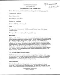 Memorandum for the Record Mfr of the Int... by Americas National Archives