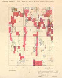 Allotment Map of Fractional Township 1 :... by Department of the Interior Office of Indian Affair...
