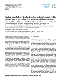 Relating Aerosol Absorption Due to Soot,... by Cazorla, A.