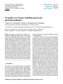 Air Quality Over Europe: Modelling Gaseo... by Tagaris, E.
