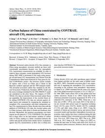 Carbon Balance of China Constrained by C... by Jiang, F.