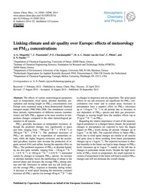 Linking Climate and Air Quality Over Eur... by Megaritis, A. G.