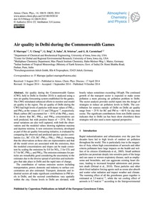 Air Quality in Delhi During the Commonwe... by Marrapu, P.