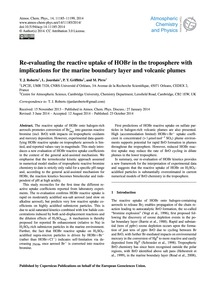 Re-evaluating the Reactive Uptake of Hob... by Roberts, T. J.