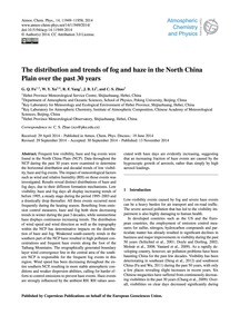 The Distribution and Trends of Fog and H... by Fu, G. Q.