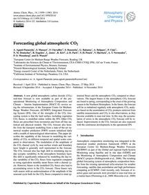 Forecasting Global Atmospheric Co2 : Vol... by Agustí-panareda, A.