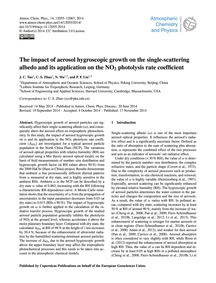 The Impact of Aerosol Hygroscopic Growth... by Tao, J. C.