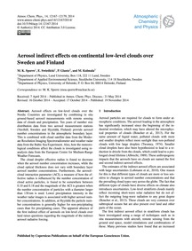 Aerosol Indirect Effects on Continental ... by Sporre, M. K.
