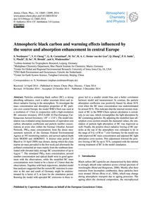 Atmospheric Black Carbon and Warming Eff... by Nordmann, S.