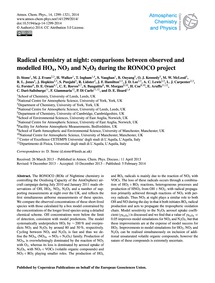 Radical Chemistry at Night: Comparisons ... by Stone, D.