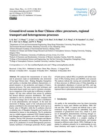 Ground-level Ozone in Four Chinese Citie... by Xue, L. K.