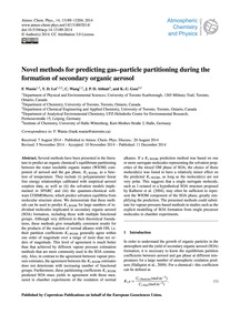 Novel Methods for Predicting Gas–particl... by Wania, F.
