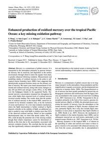 Enhanced Production of Oxidised Mercury ... by Wang, F.