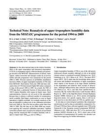 Technical Note: Reanalysis of Upper Trop... by Smit, H. G. J.