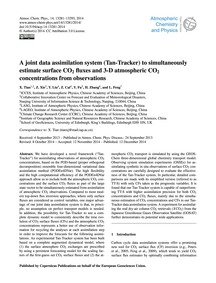 A Joint Data Assimilation System (Tan-tr... by Tian, X.