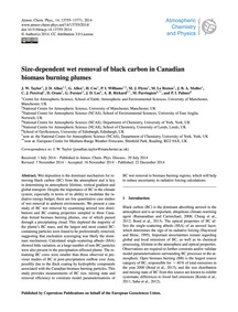Size-dependent Wet Removal of Black Carb... by Taylor, J. W.