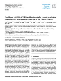 Combining Modis, Avhrr and in Situ Data ... by Ma, Y.