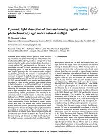 Dynamic Light Absorption of Biomass-burn... by Zhong, M.