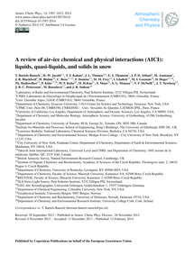 A Review of Air–ice Chemical and Physica... by Bartels-rausch, T.