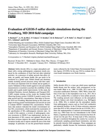Evaluation of Geos-5 Sulfur Dioxide Simu... by Buchard, V.