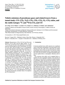 Vehicle Emissions of Greenhouse Gases an... by Popa, M. E.