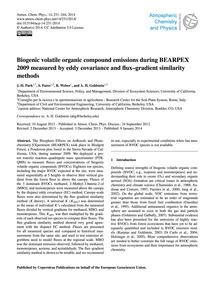 Biogenic Volatile Organic Compound Emiss... by Park, J.-h.
