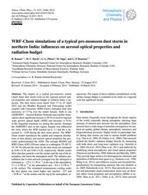 Wrf-chem Simulations of a Typical Pre-mo... by Kumar, R.
