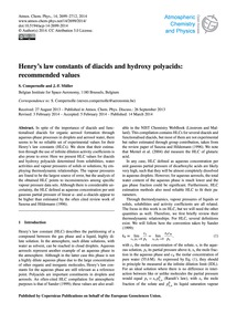 Henry's Law Constants of Diacids and Hyd... by Compernolle, S.