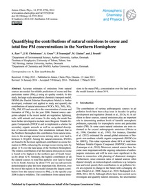 Quantifying the Contributions of Natural... by Zare, A.