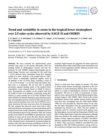 Trend and Variability in Ozone in the Tr... by Sioris, C. E.