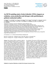 An McM Modeling Study of Nitryl Chloride... by Riedel, T. P.