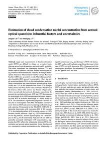 Estimation of Cloud Condensation Nuclei ... by Liu, Jianjun