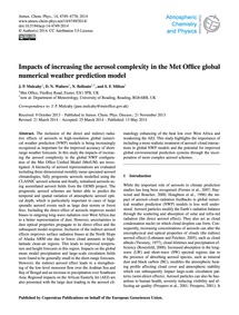 Impacts of Increasing the Aerosol Comple... by Mulcahy, J. P.
