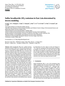 Sulfur Hexafluoride (Sf6) Emissions in E... by Fang, X.
