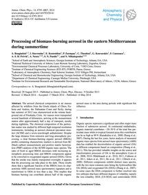 Processing of Biomass-burning Aerosol in... by Bougiatioti, A.