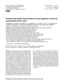Temporal and Spatial Characteristics of ... by Halfacre, J. W.