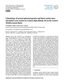 Climatology of Aerosol Optical Propertie... by Pandolfi, M.