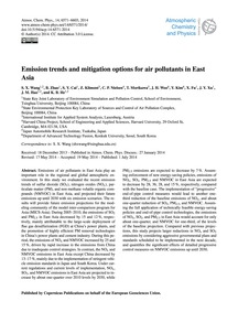 Emission Trends and Mitigation Options f... by Wang, S. X.