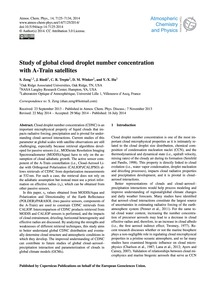 Study of Global Cloud Droplet Number Con... by Zeng, S.