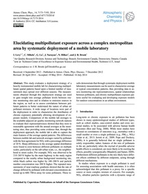 Elucidating Multipollutant Exposure Acro... by Levy, I.