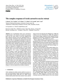 The Complex Response of Arctic Aerosol t... by Browse, J.