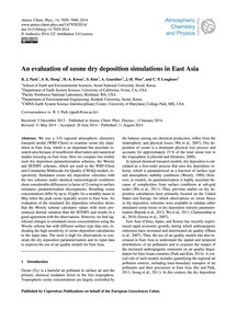 An Evaluation of Ozone Dry Deposition Si... by Park, R. J.