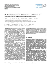 On the Submicron Aerosol Distributions a... by Kim, J. H.