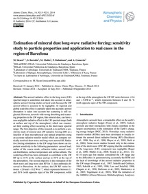 Estimation of Mineral Dust Long-wave Rad... by Sicard, M.