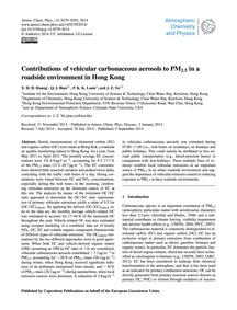 Contributions of Vehicular Carbonaceous ... by Huang, X. H. H.
