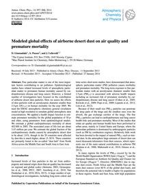 Modeled Global Effects of Airborne Deser... by Giannadaki, D.