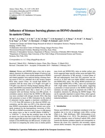 Influence of Biomass Burning Plumes on H... by Nie, W.