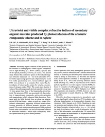 Ultraviolet and Visible Complex Refracti... by Liu, P. F.