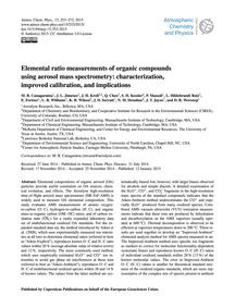 Elemental Ratio Measurements of Organic ... by Canagaratna, M. R.